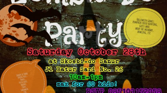 Skoebi-do Child Care Centre Bali Halloween Party 2017 Event. You are INVITED!