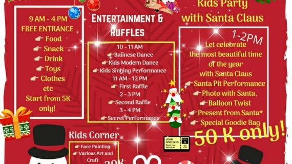 Skoebi-do Child Care Centre Bali Christmas Bazaar and Kids Party with Santa Claus